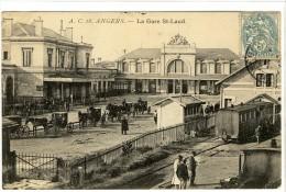 Carte Postale Ancienne Angers - La Gare Saint Laud - Chemin De Fer - Angers