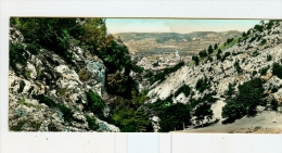 GUALDO TADINO,panorama-1962--Cartolina F.to 20,7x8,8cm. - Perugia
