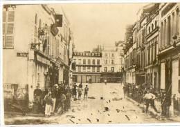 EPERNAY - RUE DE LA JUIVERIE APRES L´ORAGE DU 22 05 1910 (Vers La Place Auban-Moët)  - SUPERBE CARTE PHOTO - Epernay