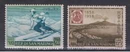 SAN  MARINO:  1953/58  P.A. VARI  -  2  VAL. N. -  GOMMA  SCURA  -  SASS. A111+A121 - Posta Aerea