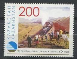 102 KAZAKHSTAN 2006 - Chemin De Fer Train Chevaux  - Neuf Sans Charniere (Yvert 458) - Kazakhstan