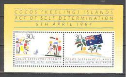 Cocos: Yvert N° BF 4**; MNH; Intégration Avec L'Australie - Cocos (Keeling) Islands