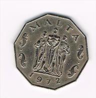 .. MALTA  50 CENTS 1972 - Malte