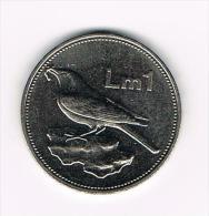 .. MALTA  1  POUND 1986 - Malte (Ordre De)