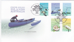 Cocos Island 2013 50 Years Of Stamps Set  FDC - Cocos (Keeling) Islands