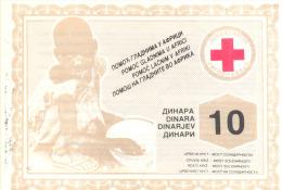 10 DINARA Za AFRICKU DECU (FOR AFRICAN CHILDREN) - Serbie