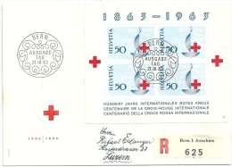 "R-FDC  ""100 Jahre Internationales Rotes Kreuz""          1963 - Svizzera"
