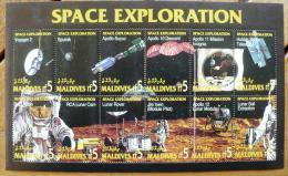 MALDIVES Cosmos. EXPLORATION DE L' ESPACE( N° Michel  2259-70 ) Neuf Sans Charniere ** MNH - United States