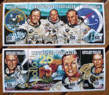 TOGO Cosmos. 25 Ans Apollo 11( Michel  Mi 2213-18 ) Neuf Sans Charniere ** MNH - Space