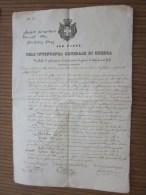 Vintimiglia1840 DELL'INTENDANZA GENERALE DI GUERRA Verbale Di Estrazione Introduuzione Di Generi Di Dolazioneai Forti - Documents Historiques