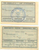 BON COUPON OFFICIAL JOUNE -FOR FOOD NARODNA REPUBLIKA HRVATSKA SFRJ -SEDMOGODISNJA SKOLA Bonovi Lot (2) - Croatia