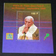 Rwanda - 1990 John Paul II Block MNH__(THB-3328) - 1990-99: Neufs