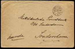 A2140) DR POW Heeressache-Brief Vom Gefangenenlagerlager Göttingen 24.12.1918 - Deutschland