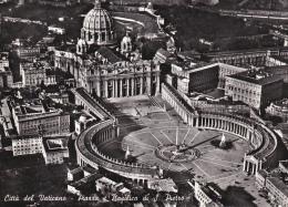 Italia-Citta Del Vaticano-Piazza E Basilica Di S.Pietro--Aerea - Vaticano (Ciudad Del)