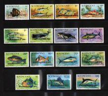 St.Vincent - 1979 Fishes Overprints MNH__(TH-1949) - St.Vincent (1979-...)
