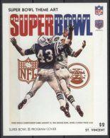 St.Vincent - 1991 Super Bowl Posters Block (3) MNH__(TH-13482) - St.Vincent (1979-...)