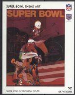 St.Vincent - 1991 Super Bowl Posters Block (4) MNH__(TH-13483) - St.Vincent (1979-...)