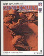 St.Vincent - 1991 Super Bowl Posters Block (5) MNH__(TH-13484) - St.Vincent (1979-...)