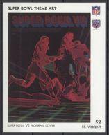 St.Vincent - 1991 Super Bowl Posters Block (7) MNH__(TH-13486) - St.Vincent (1979-...)