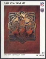St.Vincent - 1991 Super Bowl Posters Block (8) MNH__(TH-13487) - St.Vincent (1979-...)