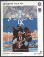 St.Vincent - 1991 Super Bowl Posters Block (9) MNH__(TH-13488) - St.Vincent (1979-...)