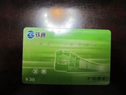 China Prepaid Phonecard, Old Train,real Phonecard Not Fake - Eisenbahnen