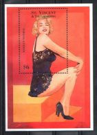 St.Vincent - 1995 Marilyn Monroe Block (2) MNH__(TH-4461) - St.Vincent (1979-...)