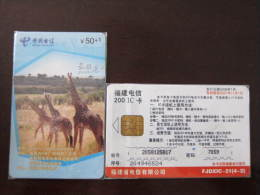 China Local Chip Phonecard,Giraffe,used - China