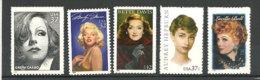 USA. Actrices Celebres (G.Garbo,M.Monroe,B.Davis ,A.Hepburn,L.Ball).  5 T-p Neufs ** - Acteurs