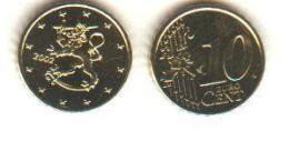 RARE §§§ 10 Cent FINLANDE 2002 UNC §§§ - Finlande