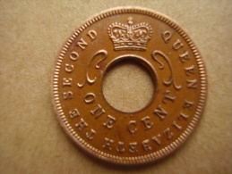 BRITISH EAST AFRICA USED ONE CENT COIN BRONZE Of 1955 KN. - East Africa & Uganda Protectorates