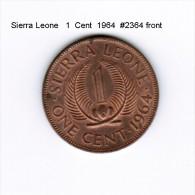 SIERRA LEONE   1  CENT  1964  (KM # 17) - Sierra Leone