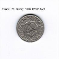 POLAND   20  GROSZY  1923  (Y # 12) - Poland