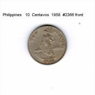 PHILIPPINES   10  CENTAVOS  1958  (KM # 188) - Philippinen