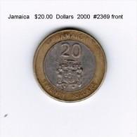 JAMAICA   $20.00  DOLLARS  2000  (KM # 182) - Jamaica