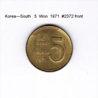 KOREA---South   5  WON  1971  (KM # 5a) - Korea, South