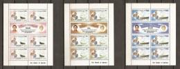 FAMILIAS REALES - GRANADINAS & SAN VICENTE 1981 - Yvert #210/15 (Minipliegos) - MNH ** - Familias Reales