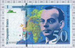 50 Francs Saint Exupery, Ref Fayette 72-1b, état NEUF - 1992-2000 Dernière Gamme