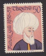 Turkey, Scott #1258, Mint Never Hinged, 400th Death Anniv. Of Fuzuli, Issued 1957 - 1921-... Republic