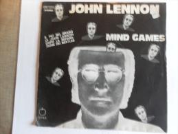 John Lennon  -  Mind Games  E   Meat City.  Apple Emi Italiana  –    Anno 1973.  Perfetto - Disco, Pop