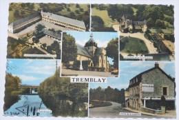 TREMBLAY - CPSM 35 - Multivues : Groupe Scolaire-Eglise-Château De La Coquillonnais-Pont De Jugué-Vallée De La Huettière - Otros Municipios