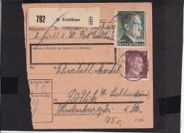 A22  /   Deutsches Reich Brief /  Paketkarte  Ua.  799 MiF  Eschlkam - Alemania