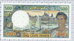 Institut D'émission D'Outre-Mer, 500 Francs, état NEUF - Papeete (French Polynesia 1914-1985)