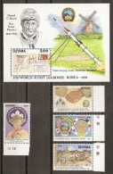 SCOUTS - GUAYANA 1991 - Yvert #2595/98+H71 - MNH ** - Movimiento Scout