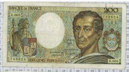 200 Francs Montesquieu, Ref Fayette 70-1, état TTB - 1962-1997 ''Francs''