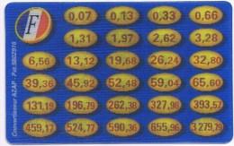 CONVERTISSEUR AZAP FRANCS EUROS Banque RARE (ERREUR D´IMPRESSION N° De Tel) BANQUE - Autres Collections
