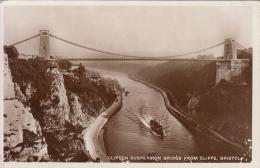 BRISTOL,CLIFTON SUSPENSION BRIDGE FROM CLIFFS VG 1931 X CAMOGLI GENOVA - Bristol