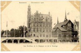 75  PARIS EXPOSITION UNIVERSELLE 1900  PAVILLONS DE LA BELGIQUE ET DE LA NORVEGE - Exposiciones