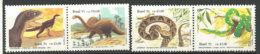 BRESIL. Reptiles & Dinosaures (Fer De Lance,Boa Canin,théropode,sauropode ). 4 T-p Neufs ** - Reptiles & Batraciens