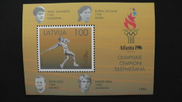 Latvia - Mi.Nr. 431 Bl.9** MNH - Booklet - 1996 - Olympic Games Atlanta - Look Scan - Lettland